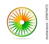 indian flag wheel design made... | Shutterstock .eps vector #245874472