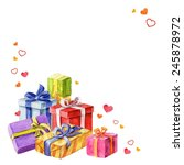 gifts for valentine's day.... | Shutterstock .eps vector #245878972