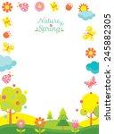 spring season icons frame   Shutterstock .eps vector #245882305