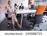 business woman with her staff ... | Shutterstock . vector #245888725