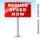 illustration of red metal sign... | Shutterstock .eps vector #245891698