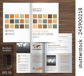 white brochure template design... | Shutterstock .eps vector #245900218