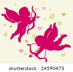 silhouettes of cupid for... | Shutterstock .eps vector #24590473