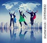 superhero global business... | Shutterstock . vector #245904832
