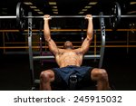 weight lifter at the bench... | Shutterstock . vector #245915032