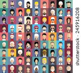 collection of avatars7   81 man ... | Shutterstock .eps vector #245916208