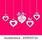 happy valentine's day ... | Shutterstock .eps vector #245924716