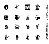 coffee icon set | Shutterstock .eps vector #245928562
