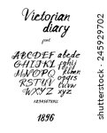 vintage inky handwritten font | Shutterstock .eps vector #245929702