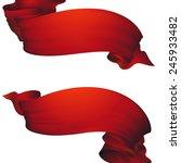 red waving ribbon banner   set... | Shutterstock .eps vector #245933482