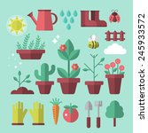 flat stylish icons for... | Shutterstock .eps vector #245933572