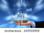 businessman reading business or ... | Shutterstock . vector #245933905