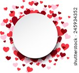love background with pink... | Shutterstock .eps vector #245934352