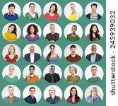 people faces portrait... | Shutterstock . vector #245939032