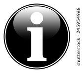 info button on white background.... | Shutterstock .eps vector #245954968