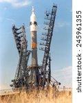 Soyuz Spacecraft Launch At The...