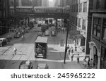 the chicago elevated railroad... | Shutterstock . vector #245965222