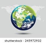 planet earth | Shutterstock .eps vector #245972932