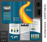 blue brochure template design... | Shutterstock .eps vector #245973652