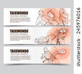 taekwondo banners.   Shutterstock .eps vector #245976016