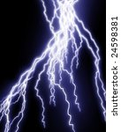 blue lightning flash on a dark... | Shutterstock . vector #24598381