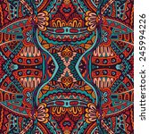 abstract tribal vintage ethnic... | Shutterstock .eps vector #245994226