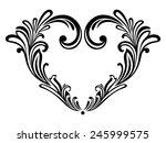 black  heart on a white... | Shutterstock .eps vector #245999575
