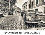 rome   june 14  vintage red... | Shutterstock . vector #246002578