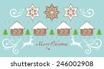 vector merry christmas and... | Shutterstock .eps vector #246002908
