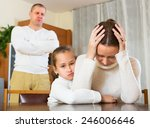 daughter comforting sad mother... | Shutterstock . vector #246006646