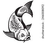 Carp Fish Cartoon. Vector...