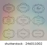 mega set of thin lineretro... | Shutterstock .eps vector #246011002