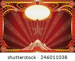 horizontal red circus... | Shutterstock .eps vector #246011038