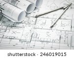 Architectural blueprints and...