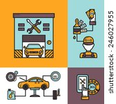 auto service design concept set ... | Shutterstock .eps vector #246027955