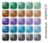 set of multicolored buttons for ... | Shutterstock .eps vector #246054175