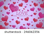 valentine's day background with ... | Shutterstock . vector #246062356