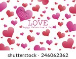 valentine's day background with ... | Shutterstock . vector #246062362