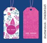 vector pink flowers vertical...   Shutterstock .eps vector #246064165