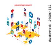 social network concept modern... | Shutterstock .eps vector #246064582