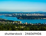 Stock photo aerial view of vancouver canada 246069406