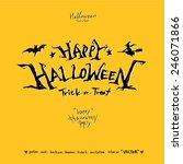 happy halloween   hand drawn... | Shutterstock .eps vector #246071866