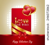 red love heart  valentines day... | Shutterstock . vector #246072862