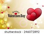 red love heart  valentines day... | Shutterstock . vector #246072892