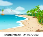 illustration of an ocean view... | Shutterstock .eps vector #246072952