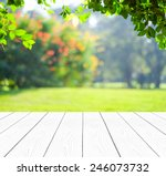 empty perspective white wood... | Shutterstock . vector #246073732