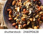 raw organic homemade trail mix... | Shutterstock . vector #246090628