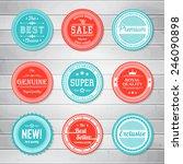 vintage labels template set.... | Shutterstock .eps vector #246090898