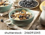 organic breakfast quinoa with... | Shutterstock . vector #246091045