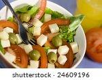 fresh salad | Shutterstock . vector #24609196